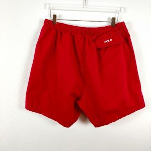 Polo Ralph Lauren Stretch Red Drawstring Shorts